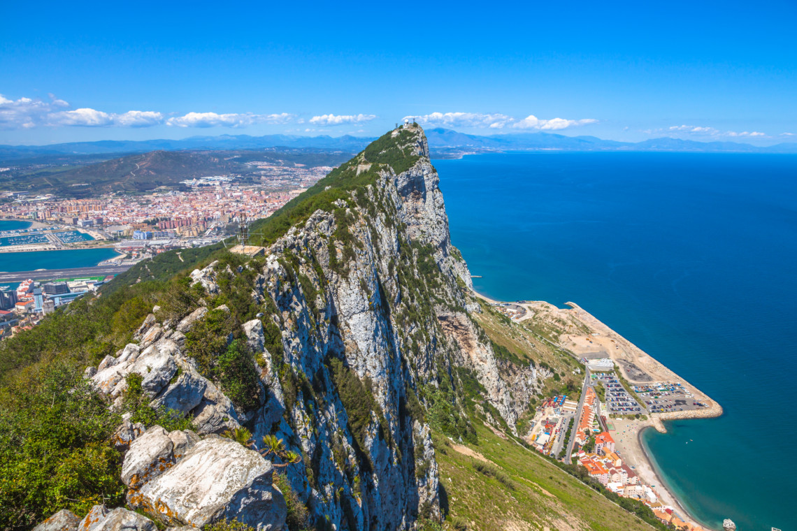 Rock Of Gibraltar aerial view